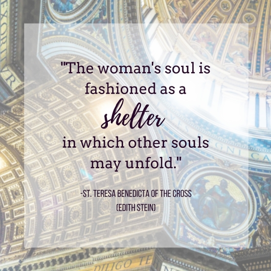 -The woman's soul is fashioned as a